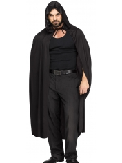 Black Hooded Cape - Halloween Costume Capes